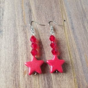 Jewelry - Sailor Mars Star Earrings/Sailor Mars Costume/Raye
